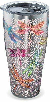 Tervis 30 oz. Stainless Steel Dragonfly Tumbler Tervis One Size Pink multi