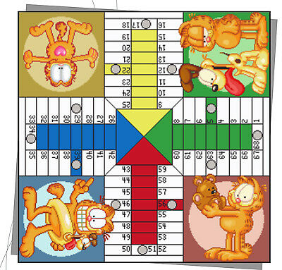 Esquema Punto De Cruz - Parchis Garfield - Digital Copy