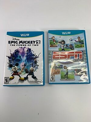 ESPN Sports Connection (Nintendo Wii U) wii sports AND epic mickey 2