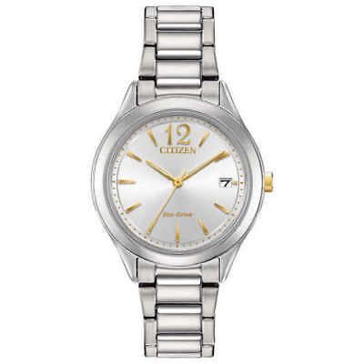 new Citizen Chandler Stainless Steel Women's Eco-Drive Watch FE6124-51A, w/b