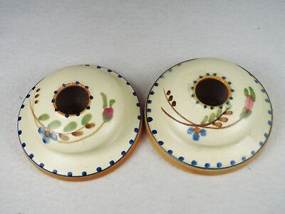 Rare Authentic Weller Pottery Bonito Hand Painted Candlesticks Candle Holders