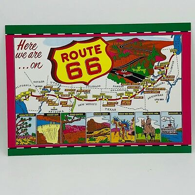 Postcard Historic Route 66 Sketch Of Map 4x6 C-29