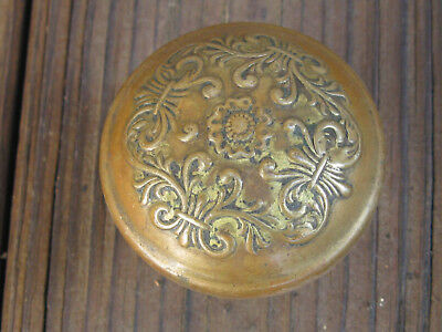 Antique Art nouveau Brass door knob