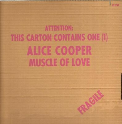 Alice Cooper Muscle Of Love SHIPPING CARTON SLEEVE Warner Vinyl LP