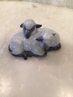 Royal Copenhagen Resting Lamb Pair #2769 - Model 137