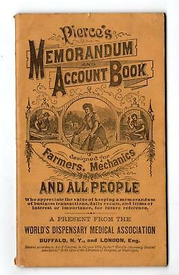 1884-85 Kenton Ohio*ja Rogers*drugs Medicines Wine Liquor*pierce's Account Book