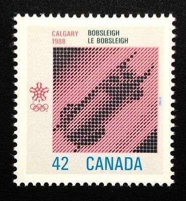 Canada #1131 MNH, Olympic Winter Games - Bobsleigh Stamp 1987