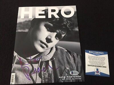 Nick Robinson Signed Autograph 8x10 Picture Of HERO Magazine Beckett BAS