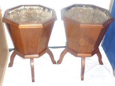 A Pair of Solid Wood PLANTERS Decorative Plant Stands Plant Holder Indoor Plant