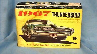 Palmer Plastics Inc., Model Kit ~ 1967 Ford THUNDERBIRD ~ BOX ONLY ...No. 6702