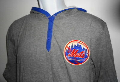 6e31ea1c196 New York Mets Mitchell & Ness MLB Men's Seal The Win Hooded Long Sleeve ...