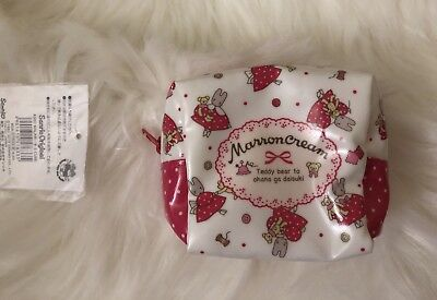 New Sanrio  MARRON CREAM Laminated Cube Pouch From Japan F/S