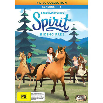 Spirit: Riding Free - Season 1 - 4 DVD NEW (Region 4 Australia)