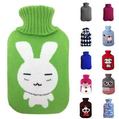 Large Hot Water Bag Knitted Bottle Case Heat Warm Keeping Coldproof 2000ml Part