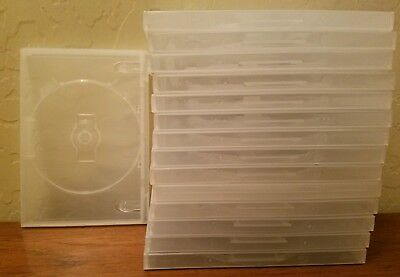 Lot of 15 clear empty DVD cases. Hard Plastic.