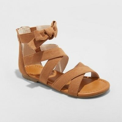 2ee3acec1826f YOUTH GIRLS  HAISLEY Gladiator Sandals - Cat   Jack Brown Size 3 ...
