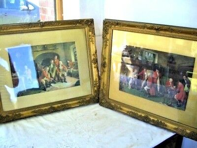 Wood Antique Gold Pair Of Ornate  French Frames  54  X  44 Cms