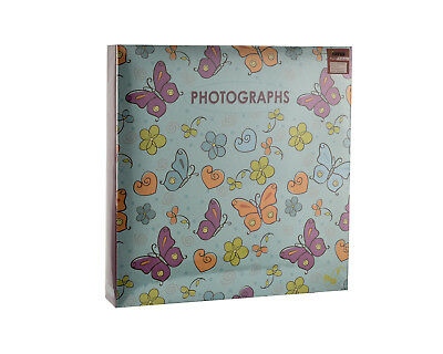 Large Butterfly Slip in Ring Binder Travel Memories 6'x4' 500 Photos Album