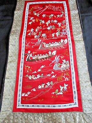 """Chinese Embroidery Picture 100 Children,    """"messing About In Boats""""...beautiful"""