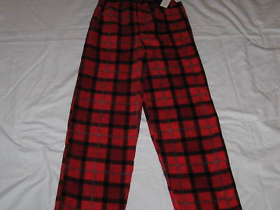 NWT Boys Size M 7/8 CALVIN KLEIN Red Plaid Fleece Sleep Pajama Lounge Pants