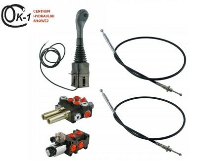 CABLE REMOTE CONTROL VALVE KIT: 2 SPOOL 3SECTIONS 40lpm/ 11gpm +CABLE + JOYSTICK