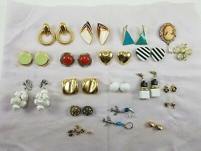 Vintage Antique Costum Jewelry lot of 13 Earings And MORE!!
