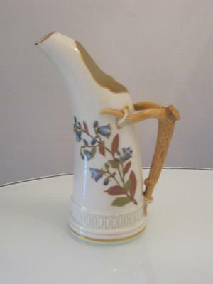 STUNNING ANTIQUE 19th CENTURY ROYAL WORCESTER PORCELAIN EWER