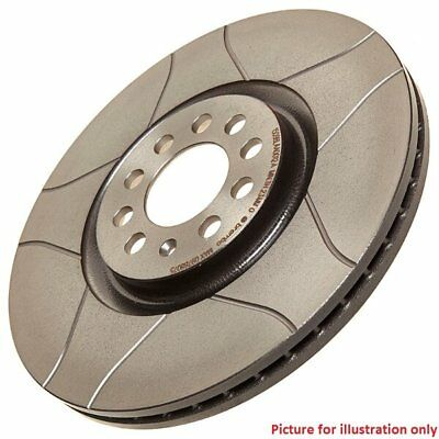 Front Performance High Carbon Grooved Brake Disc (Pair) 09.9145.75 - Brembo Max