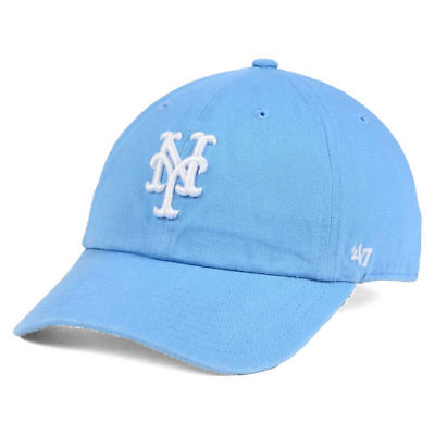 f0e4eb7c040fe New York Mets MLB Women s CLEAN UP Light Blue Cap Hat Adjustable Baseball  Ladies
