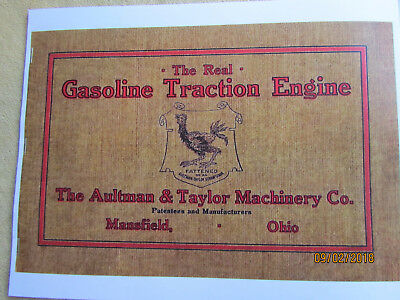 1910s Aultman Taylor Gasoline Traction Engine Catalog