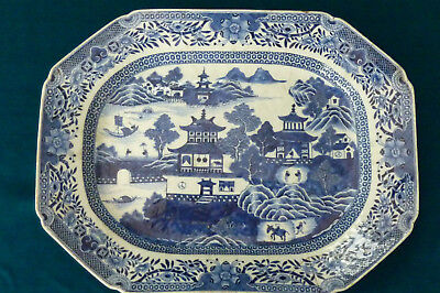 Superb Vintage Hand Painted Chinese Export Blue & White Plate