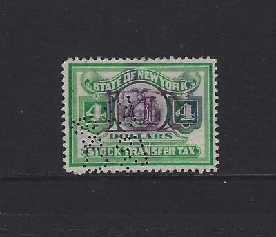 United States - $4 State Of New York Stock Transfer Used Stamp