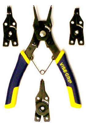 IRWIN INDUSTRIAL TOOL CO Vise-Grip Convertible Snap-Ring Pliers, 4-Pc. Set