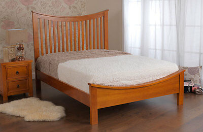 Sweet Dreams Spruce Solid Pine Bed Frame In White Or Wild Cherry Double King