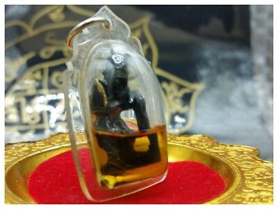 Hoon Payon Hermit Lersi In Oil Talisman Lucky Happiness Protection Thai Amulet 3