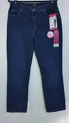 71b9316e Lee Riders Women's Sz 16 Instantly Slims You Straight Leg Jeans Tummy  Control