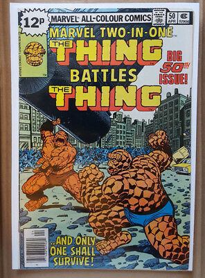 Marvel-Two-In-One # 50, & # 100 - Marvel Comics / Vfn - / Preowned / (The Thing)