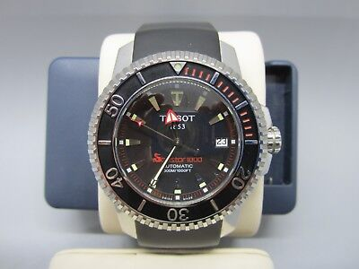 c29487758d9 Tissot Seastar 1000 Vintage Automatic Black Dial Men s Watch Rubber Strap
