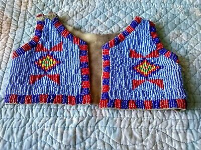 Antique Native American Infants Beaded Vest, Very Rare And Great Condition