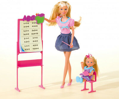 "Steffi Love Abc School Student Teacher Barbie Simba 11,5"" Doll"