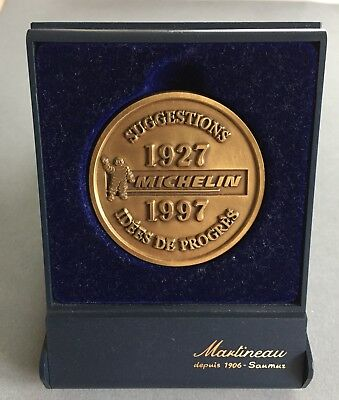 Rare Belle Medaille Michelin Suggestions Idees De Progres 1927 1997