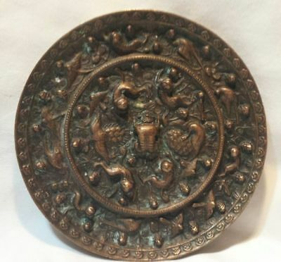 """ANTIQUE CHINESE BRONZE MIRROR 6"""" Tang Dynasty?"""