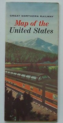 GREAT NORTHERN RAILROAD 1958 System Map - Advertising - $10.00 ...