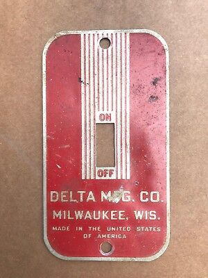 Delta Rockwell Band Saw Jointer Shaper Switch Plate Cover Cast Iron Switch Box
