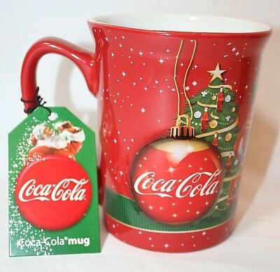 Official Christmas Coca Cola Coke 3D Bauble Mug Cup Santa Xmas Gift Present New