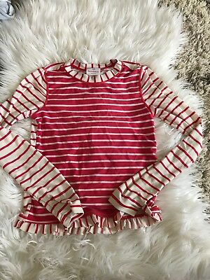 9a6aabcb78da7c Girl s Hanna Andersson Rash Guard Size 140 Size 10 Striped Red Pink White