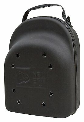 New Era Cap Hat Carrying Carrier Case Handle Fits 6 Hats Black Bag Zipper Handle