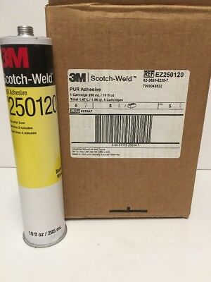Box Of 5 3M Scotch-Weld PUR Easy Adhesive EZ250120, 1/10 gal Cartridge