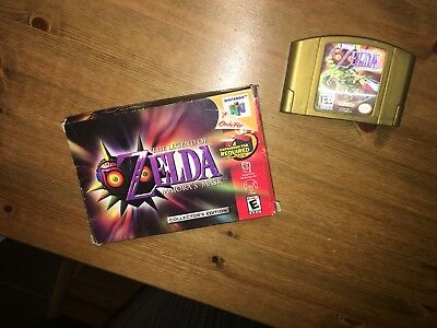 Legend of Zelda: Majora's Mask (Nintendo 64, 2000) Box + Cartridge