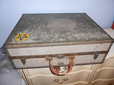 Vintage WWll 1943 US Navy Seapack by Hartmann Military Suitcase